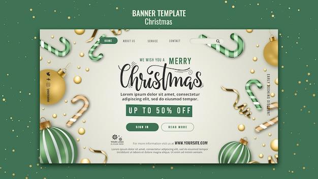 Designvorlage für weihnachtsverkaufsbanner