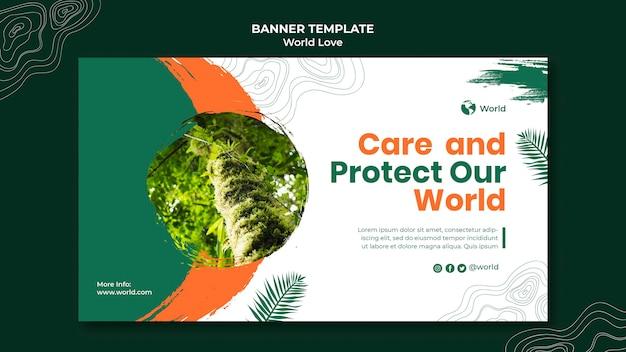 Designvorlage für weltliebe-banner