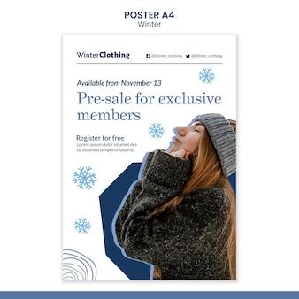 Designvorlage für winterplakate