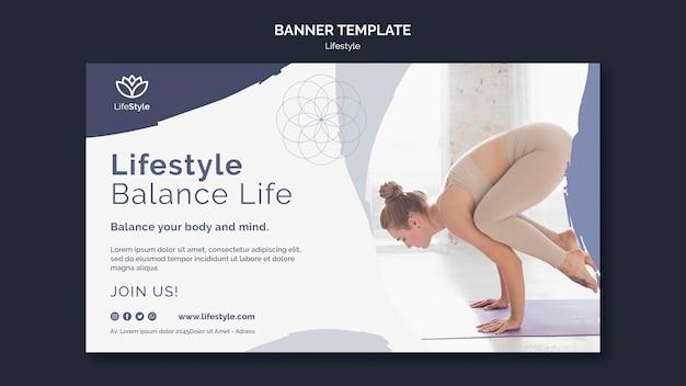 Designvorlage für yoga-landingpages