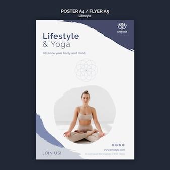 Designvorlage für yoga-poster