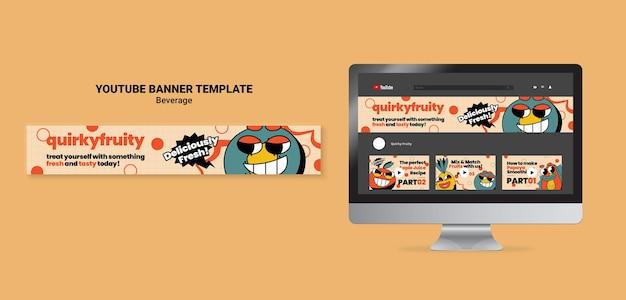 Designvorlage für youtube-banner-getränkezeichen