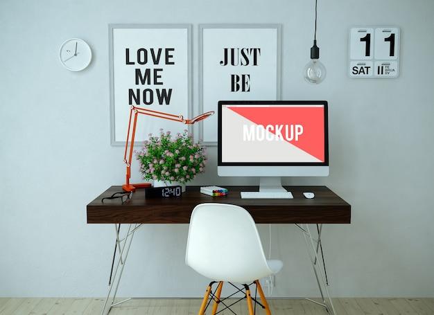 Desktop-büro mock up