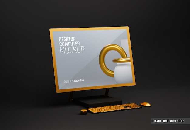 Desktop computer surface studio ton modell mit goldener stimmung
