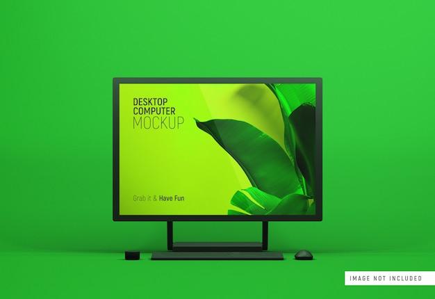 Desktop computer surface studio vorderansicht dunkles tonmodell