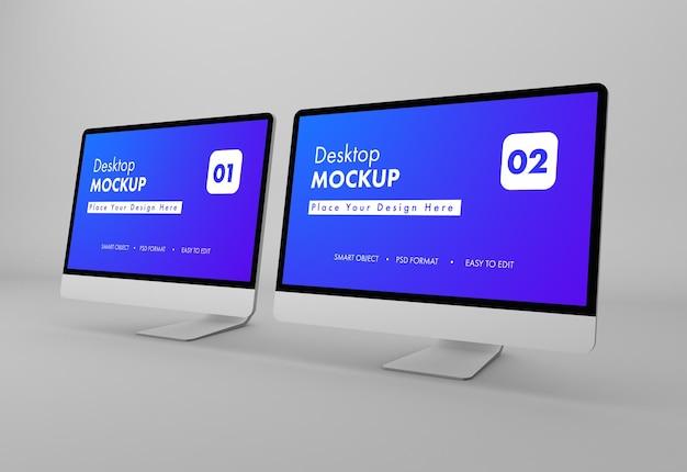 Desktop-mockup-design beim 3d-rendering