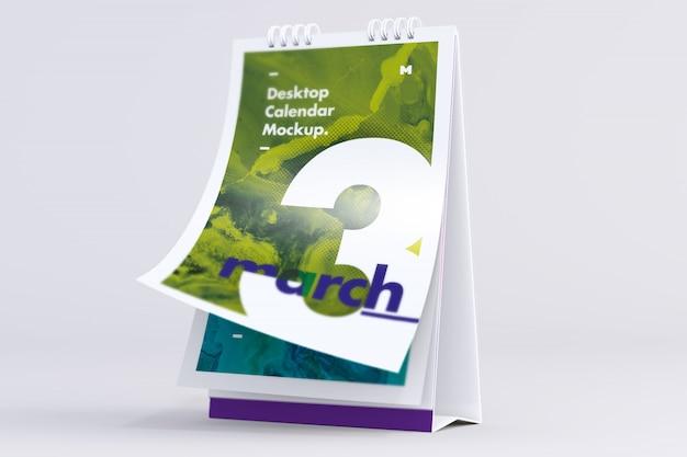 Desktop portrait calendar mockup blättern