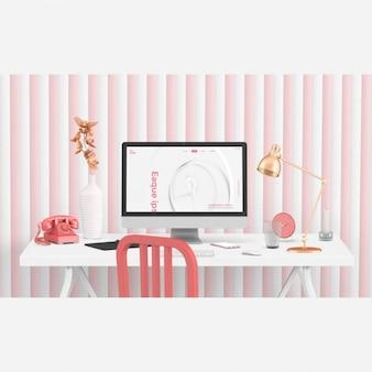 Desktop-szene mock-up