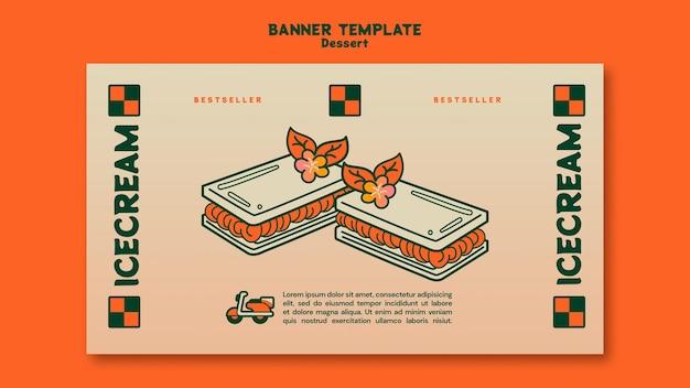 Dessert banner vorlage