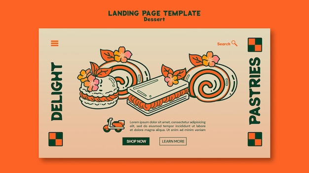 Dessert landing page