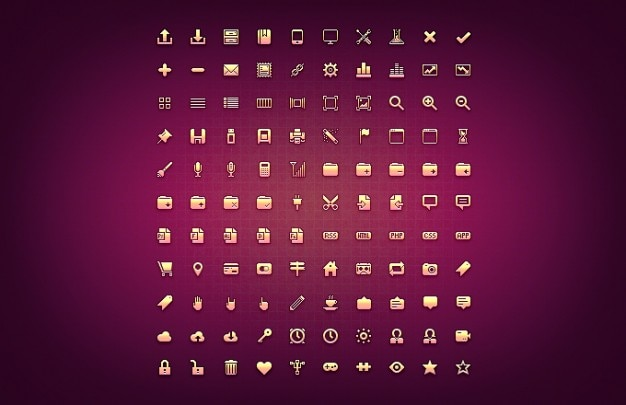 Detail kostenlos freebie glyphe icons mikro photoshop psd-pixel-ressource-set