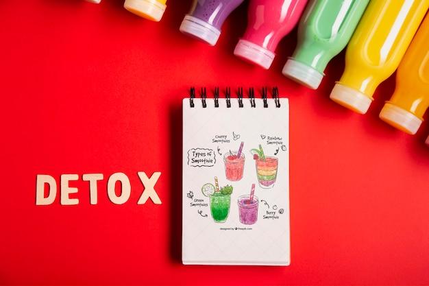 Detox smoothies und diätplan