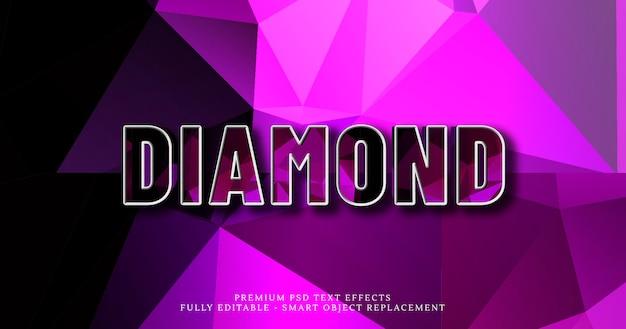 Diamant 3d text stil effekt psd