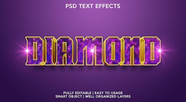 Diamant-text-effekt