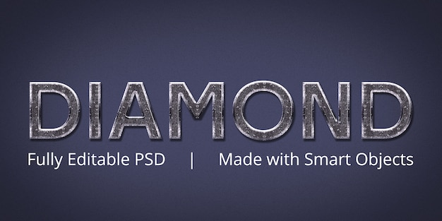 Diamantbearbeitbarer photoshop-textstileffekt