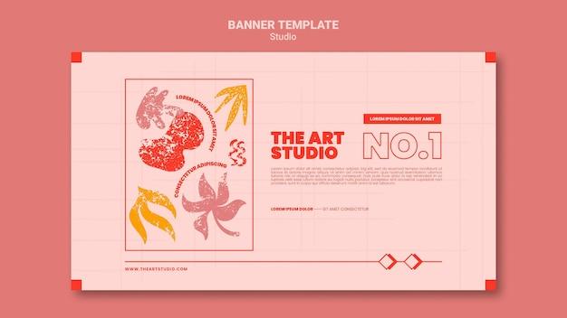 Die banner-vorlage für das kunststudio