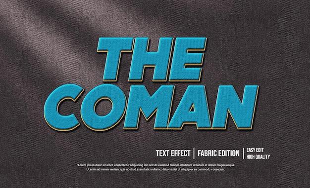 Die coman 3d text style effektvorlage