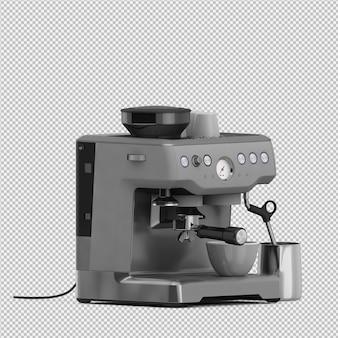 Die isometrische lokalisierte kaffeemaschine 3d übertragen