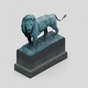 Die isometrische lokalisierte statue 3d übertragen