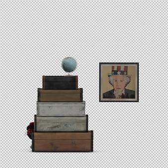 Die isometrischen lokalisierten koffer 3d übertragen