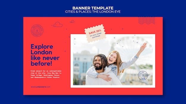 Die london eye banner vorlage