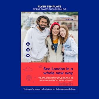 Die london eye flyer vorlage