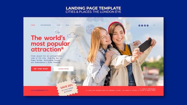 Die london eye landing page