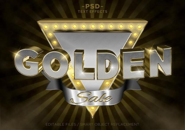 Die texteffekte des golden sale