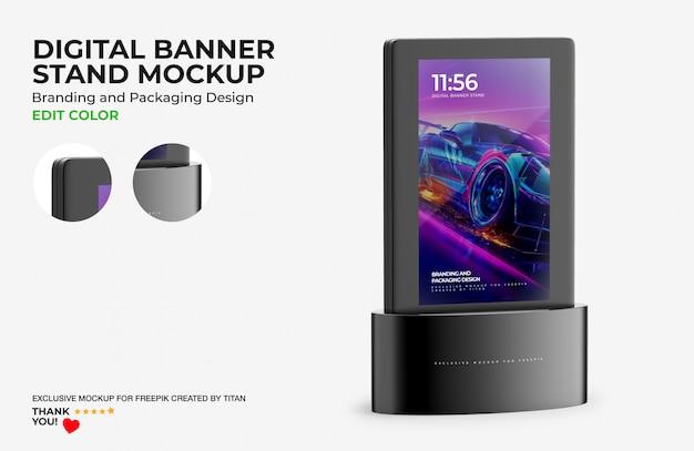 Digital banner stand mockup