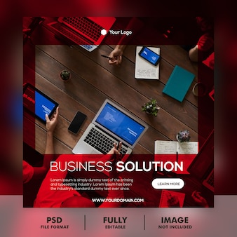 Digital business marketing banner & quadratische flyer