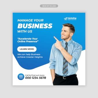 Digital business marketing instagram post
