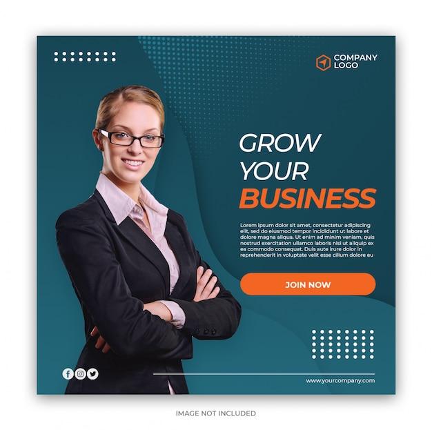 Digital business marketing social media banner platz