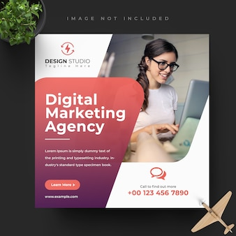 Digital business marketing social media banner