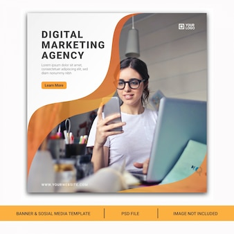 Digital business marketing social media post