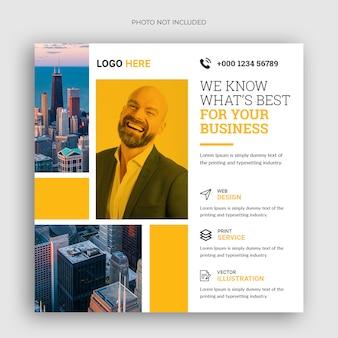 Digital business marketing square flyer