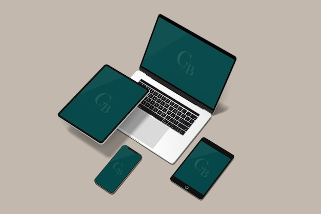 Digital device mockup Premium PSD