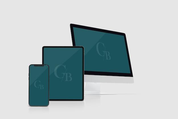Digital device mockup Premium PSD