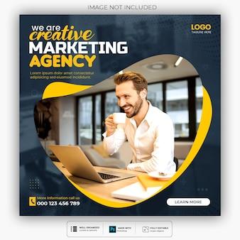 Digital marketing agentur und corporate social media post vorlage