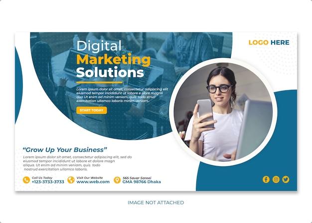 Digital marketing instagram banner vorlage