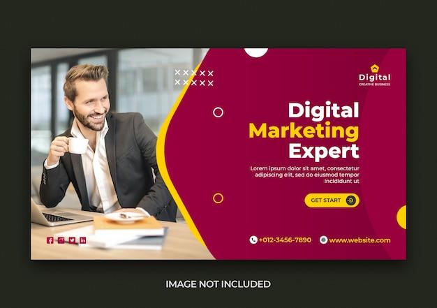 Digital marketing web und social media banner vorlage