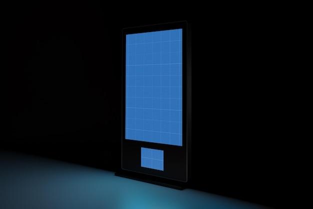 Digital signage im dunkeln Premium PSD