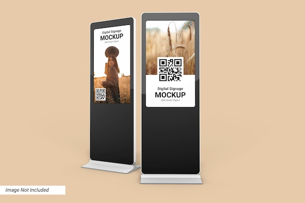 Digital signage mockup design isoliert