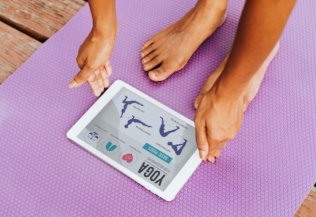 Digitale anwendung für yoga