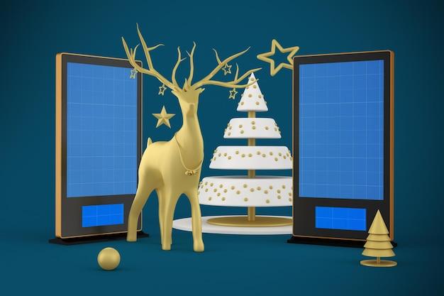 Digitale beschilderung zu weihnachten