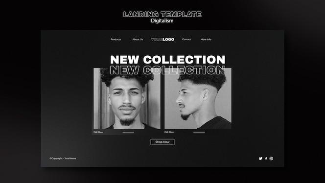 Digitale einkaufswebseite mit foto