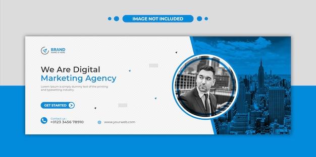 Digitale marketingagentur social media, instagram, web-banner oder quadratische flyer-vorlage