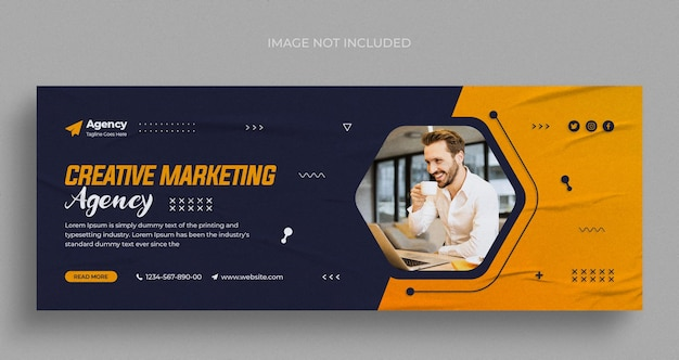 Digitale marketingagentur social media instagram webbanner oder facebook-cover-vorlage
