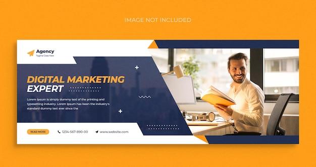 Digitale marketingagentur social media instagram webbanner-vorlage