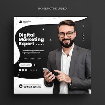 Digitale marketingagentur social-media-post instagram-post-webbanner oder facebook-cover-vorlage