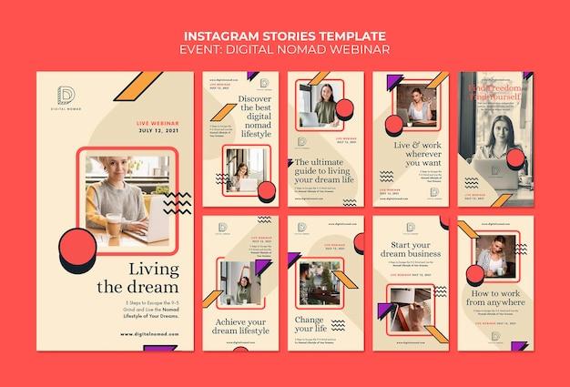 Digitale nomaden-instagram-geschichten